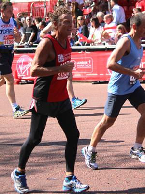 Dr Davies running a marathon.